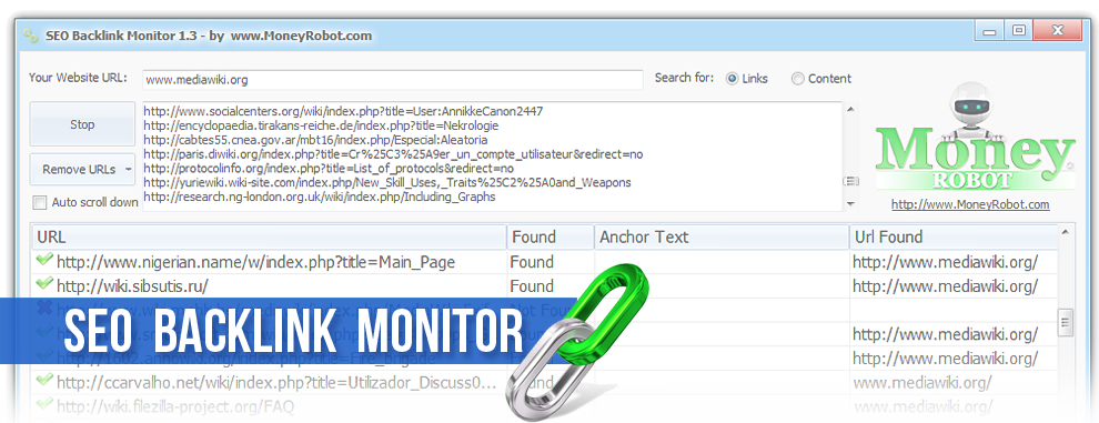 SEO BACKLINK MONITOR